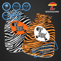 soft fleece zebra animal printing hot water bottle cover