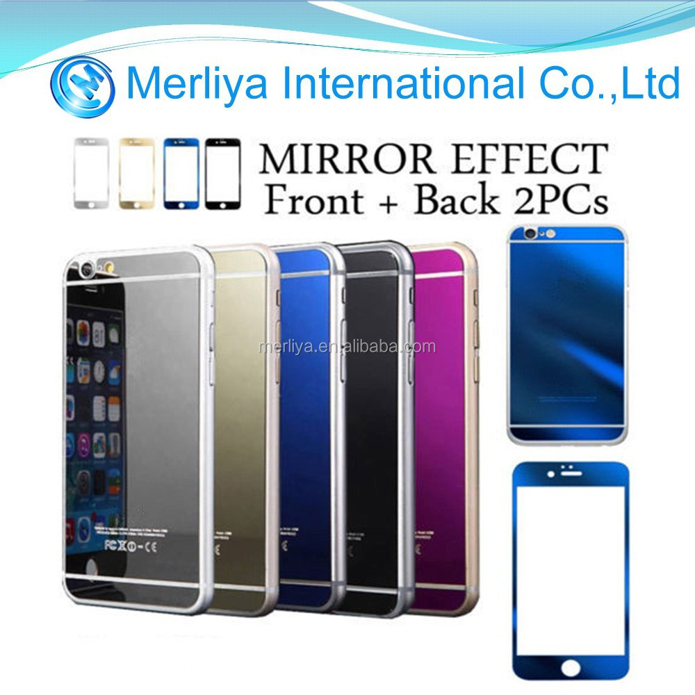 Color Mirror Effect Tempered Glass Screen Protector for iPhone 6