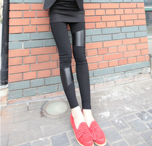 C10896B AUTUMN NEWEST DESIGN PU LADIES/WOMEN'S LEGGINGS