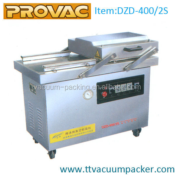 DZD-400 Nitrogen Gas Flush Vacuum Packing Machine For Food Commercial