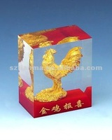 gold chicken figurine craft factory