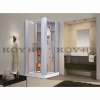2015 European style steam shower room with infrared sauna K021