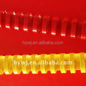 6mm-50mm Colorful Plastic Comb Binding