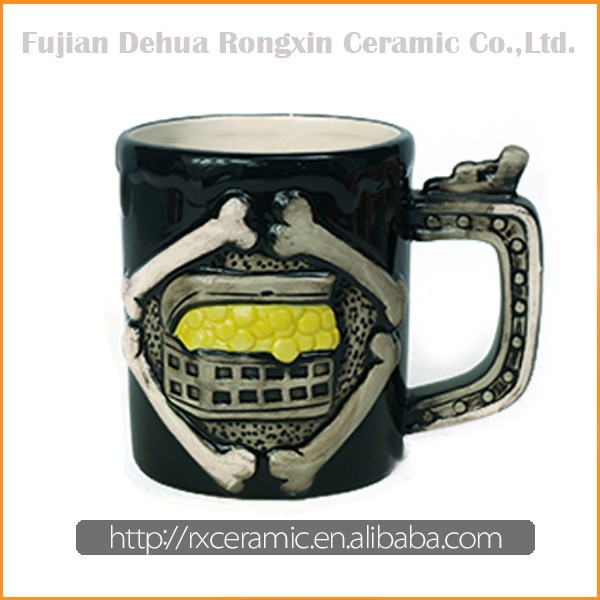 Wholesale Hallowmas style ceramic mug cup enamelware ceramic cup