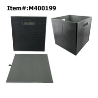 Home Office Foldable PU Leather Storage Box