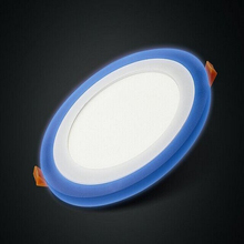 IP44 5w round led panel light two color white and blue changes