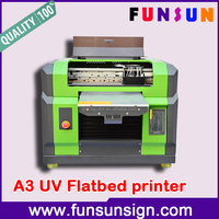 A3/A4 size UV led flatbed CD plastic card pen printing machine with DX5 head 1440dpi