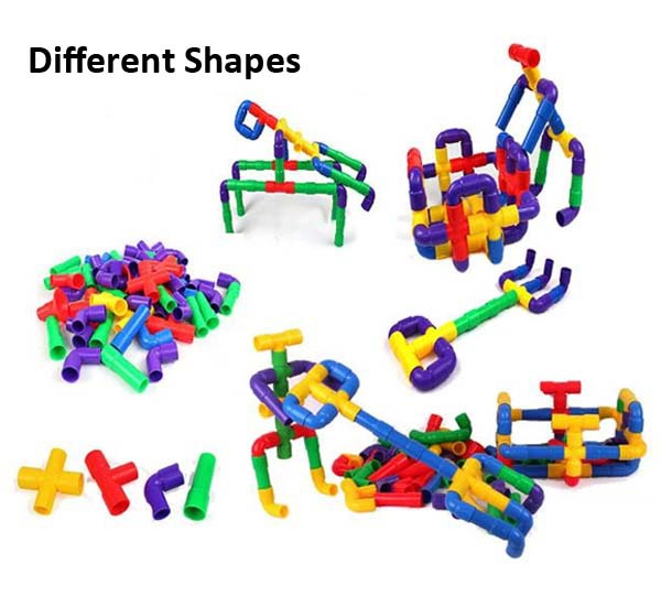 Factory plastic pipe blocks building toys plastic building tube toy
