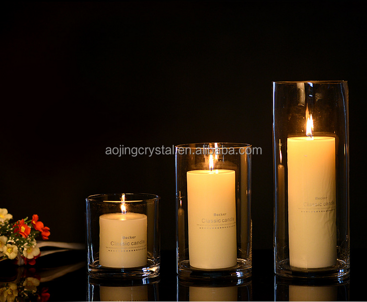 Wholesale tall centerpieces for wedding table crystal votive glass candle holder