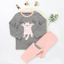 new design Cartoon Pattern Cotton Clothing Suits Clothing Sets For Boys and baby girl boutique clothing
