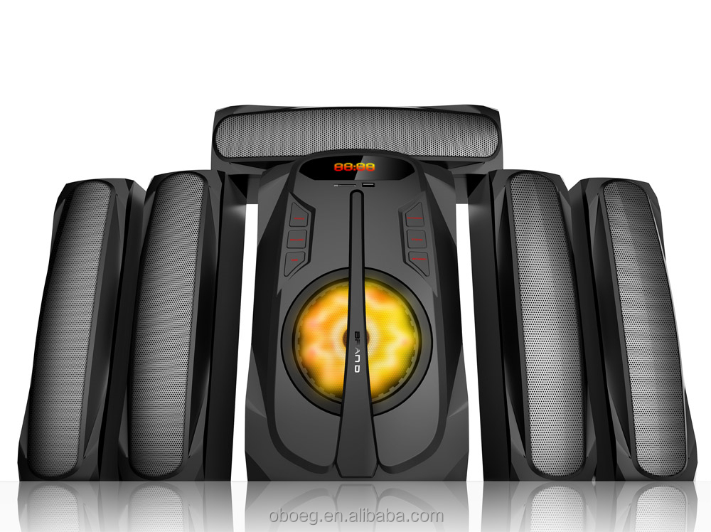 5.1 channel home theatre amplifier system with super bass woofer
