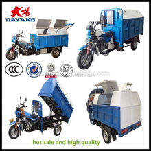 chinese Excellent carrying capacity garbage three wheel motorcycle