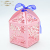 Laser cut first communication party decoration cross wedding box candy gift