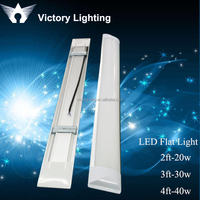 4 foot 40 watt led linear lighting furniture led flat tube with double row chips