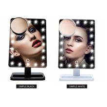 2017 fashion design vanity mirror with led lights illuminated makeup mirror