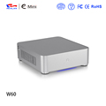 Black color silver color small size mini PC case E-W60 for office and home