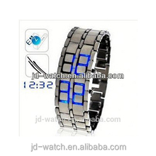 2013 stainless steel watch lava faceless led digital watch iron samurai lava led watch