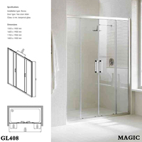 100% manufacturer,straight,two sliding doors,shower screen