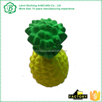 Best-selling artificial pineapple anti stress toys, red PU foam ball