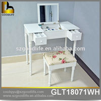 multifunction bedroom vanity table with lighted mirror From China