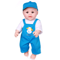 Plastic for children fashion doll real silicone baby toy