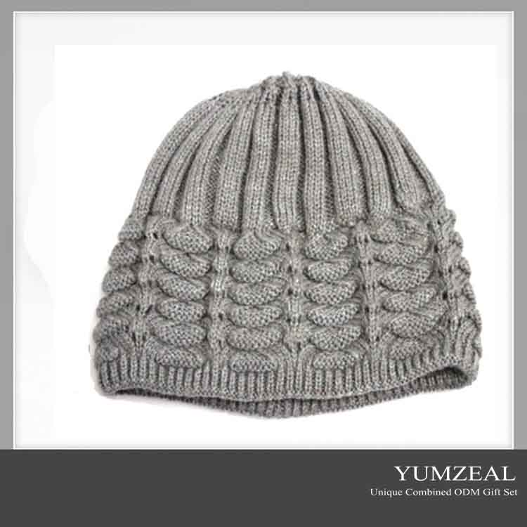 Fashionable custom knitted adult hat leisure mother knitted hat beanie cap as gift