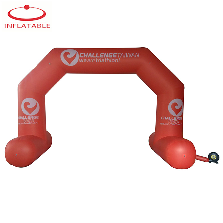 Red Custom Inflatable Finish Line Arch Inflatable Race