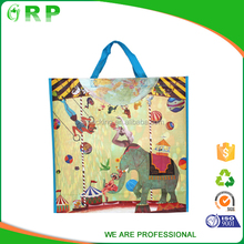 High quality lightweight elephant pp woven lovely cute foldable shopping bag