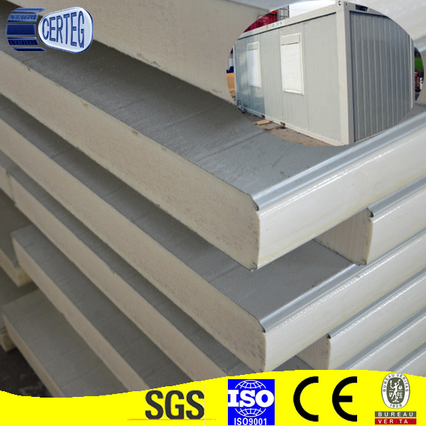 Light weight steel color Polyurethane PU sandwich wall panel