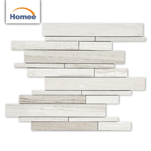 Grey Marble Mosaic Wholesale Small Strip Marble Mosaic For House And Bathroom