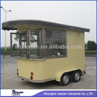 2015 Shanghai JiexianCR300 Newly design mobile fish and chips fryer fast food trailer