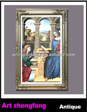 holy religious picture photo frame wooden carved