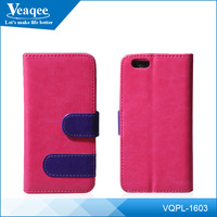 Veaqee flip style two mobile phones tpu leather case for smart phone
