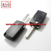 Okeytech Peugeot key cover Peugeot 307 4 button remote flip key for key cover peugeot 307
