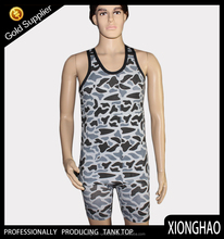 Black and white stripe fashion style mens singlet for wholesalse