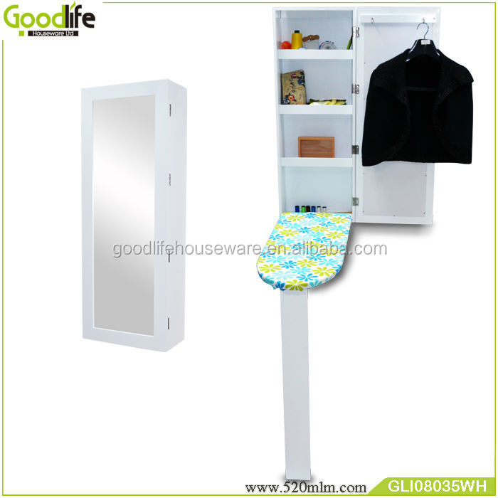 small ironing board stand up reversible mirror/ironing board