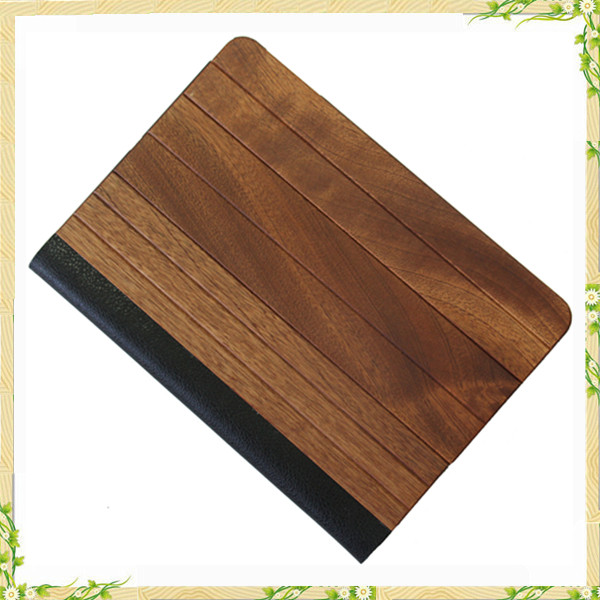 Genuine wooden flip cover case for ipad case, for ipad mini 2 case
