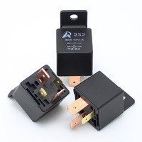 Free Shipping 100pcs/lot 4 Pin Automobile relay Over 80A AMP 12v DC relay car or moto open type