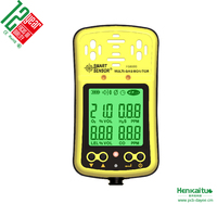 Portable Digital Gas Monitor 4 Gas Detector H2S CO O2 LEL Combustible Gas Leak Detector