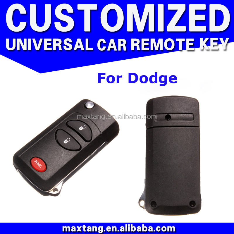 Best Quality Keyles Entry Key Shell Remote Fob Shell Case Car Key Uncut Blade 2+1 Button For Dodge