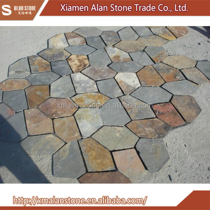 Polished Honed Cheap Paving stone Natural Slate stepping Stone and slate