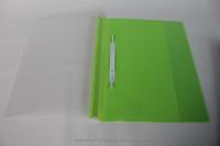 durable green color PP plastic report file cover