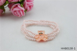 Cute teddy bear model pearl series of children's hair band