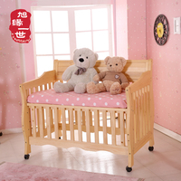 Large sleep space adjustable baby cribs solid wood baby cot design