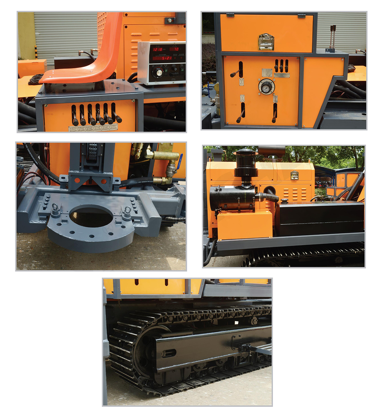 KW400 Kaishan brand efficient multi-functional Portable Crawler Water Well Drilling Rig Machine