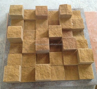 Color family gold mosaic,yellow sand stone mosaic tile,3d wall tile