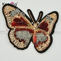 Latest toothbrush felt fabric butterfly patches embroidery designs WEFC-064