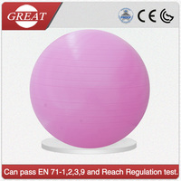 65cm pvc exercise yoga ball with foot pump, pvc physical therapy yoga ball , fitness yoga ball factory