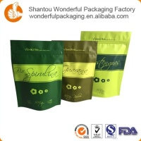 Kraft food packaging paper bags with oval window