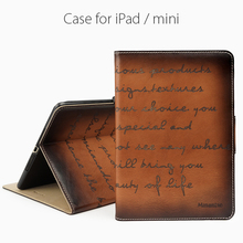 Fashion genuine leather tablet case PC flip case for iPad Mini tablet